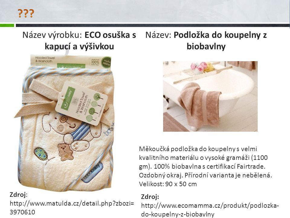Název výrobku: ECO osuška s kapucí a výšivkou