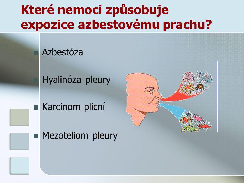 Které nemoci způsobuje expozice azbestovému prachu