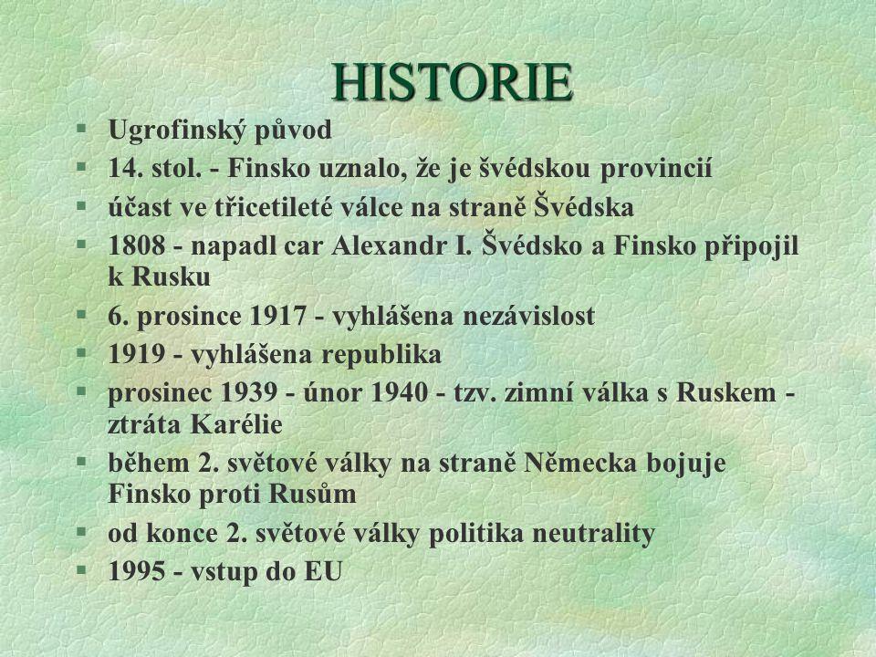 HISTORIE Ugrofinský původ