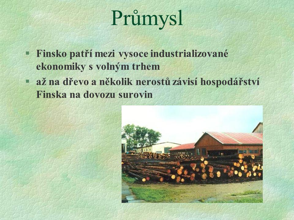 Průmysl Finsko patří mezi vysoce industrializované ekonomiky s volným trhem.