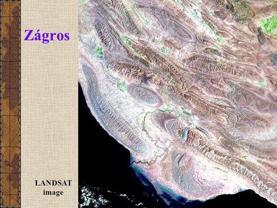 Zágros LANDSAT image