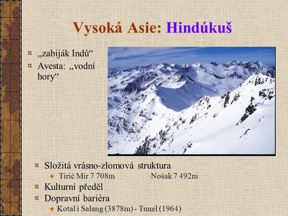 """Vysoká Asie: Hindúkuš """"zabiják Indů Avesta: """"vodní hory"""