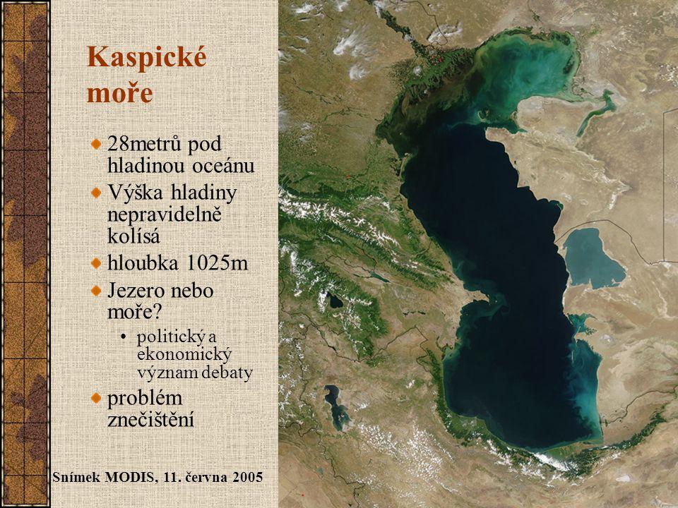 Kaspické moře 28metrů pod hladinou oceánu