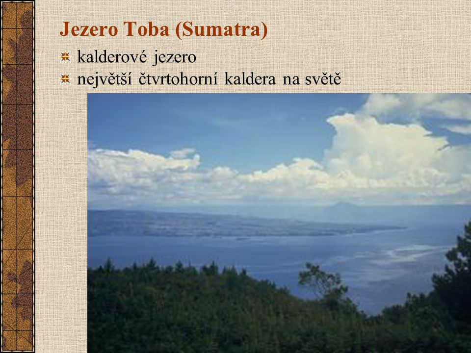 Jezero Toba (Sumatra) kalderové jezero