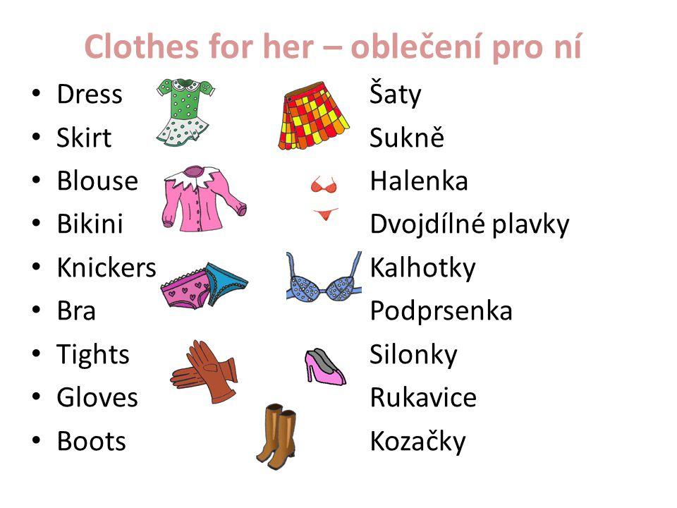 Clothes for her – oblečení pro ní