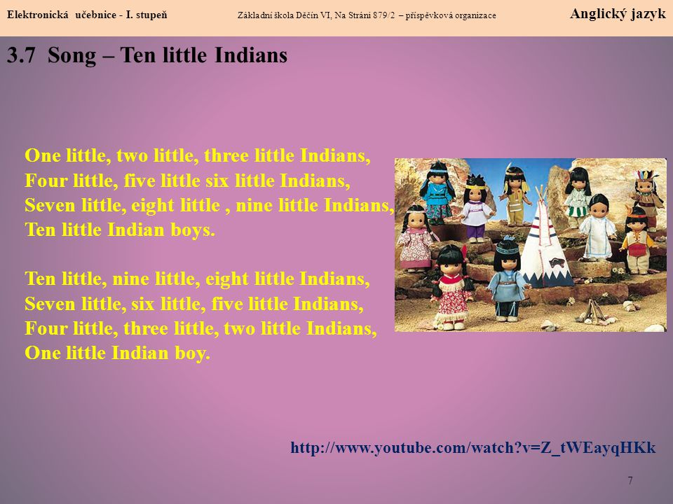 3.7 Song – Ten little Indians