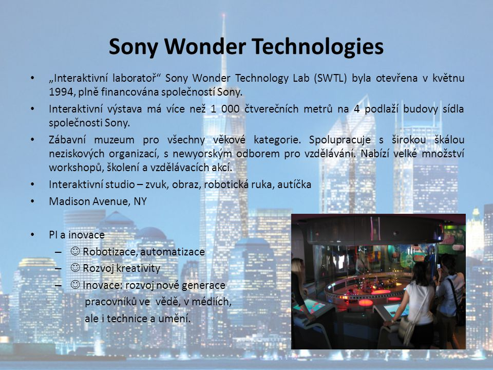 Sony Wonder Technologies
