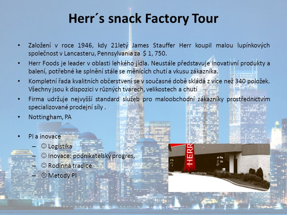Herr´s snack Factory Tour