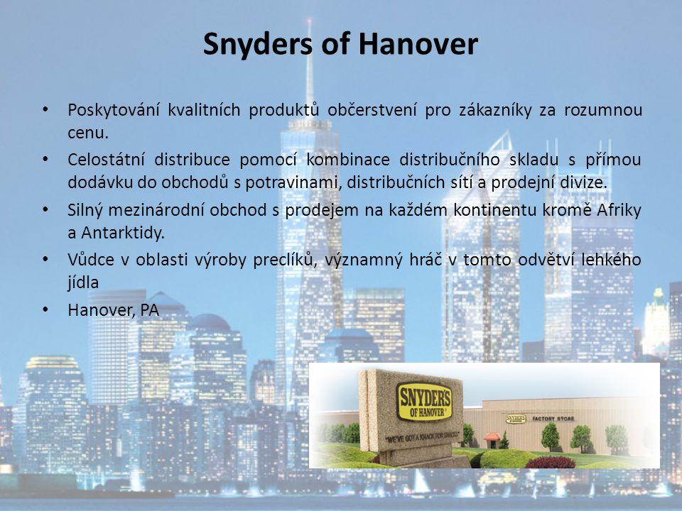 Snyders of Hanover Poskytování kvalitních produktů občerstvení pro zákazníky za rozumnou cenu.