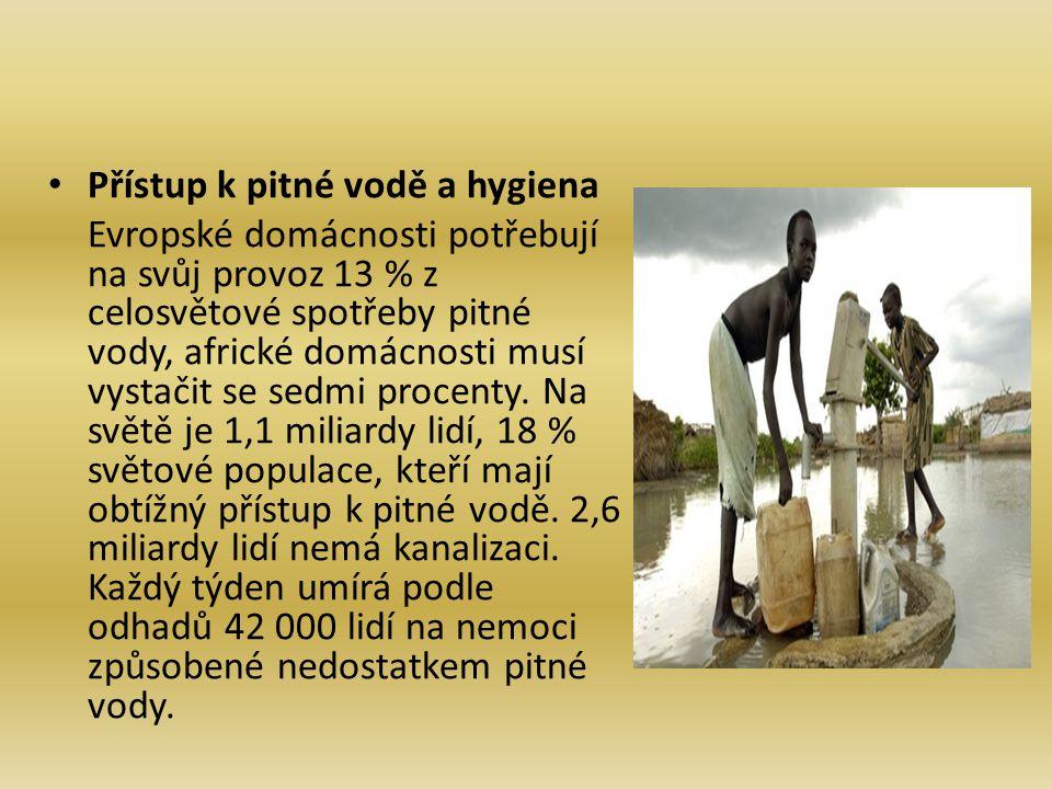 Přístup k pitné vodě a hygiena