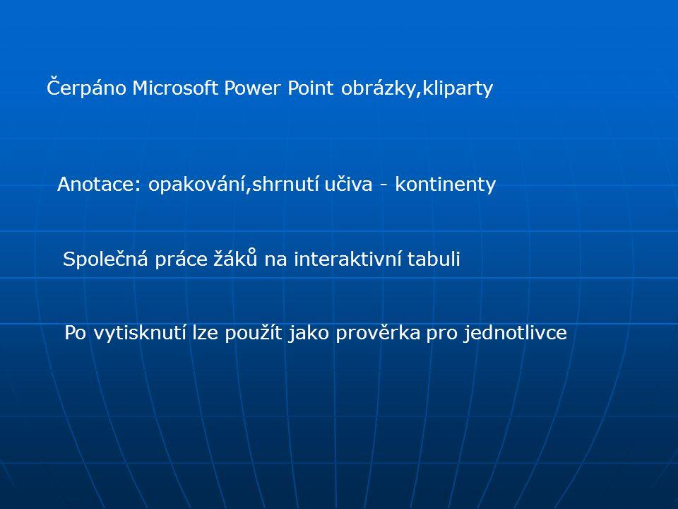 Čerpáno Microsoft Power Point obrázky,kliparty