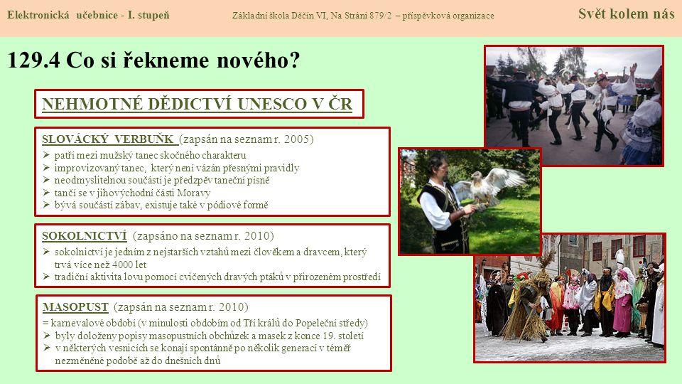129.4 Co si řekneme nového NEHMOTNÉ DĚDICTVÍ UNESCO V ČR