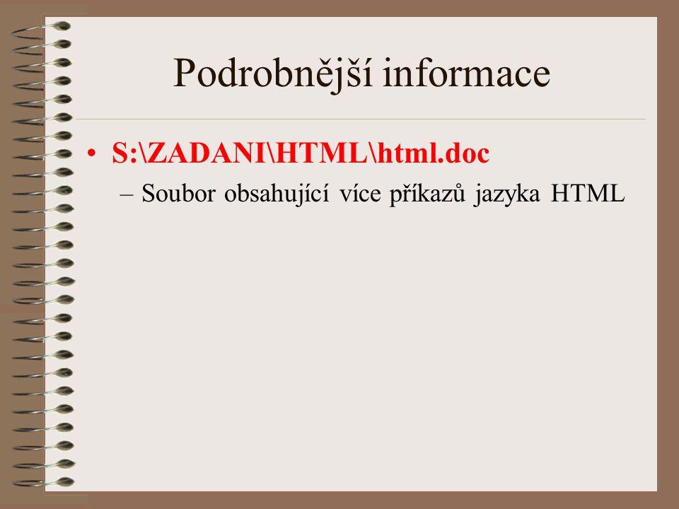 Podrobnější informace