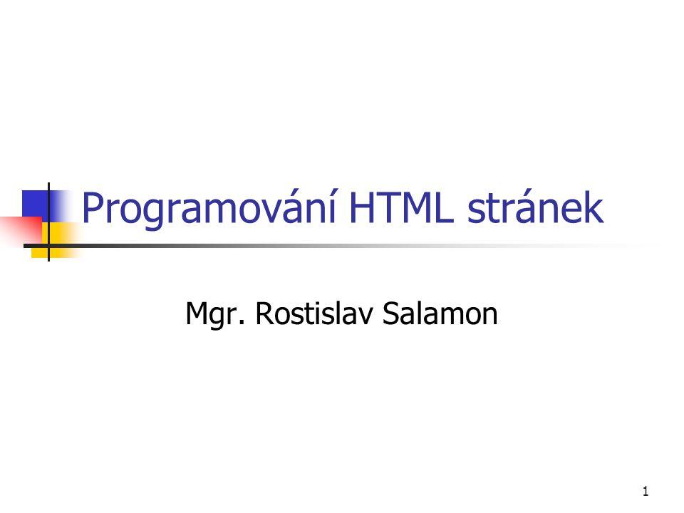Programování HTML stránek