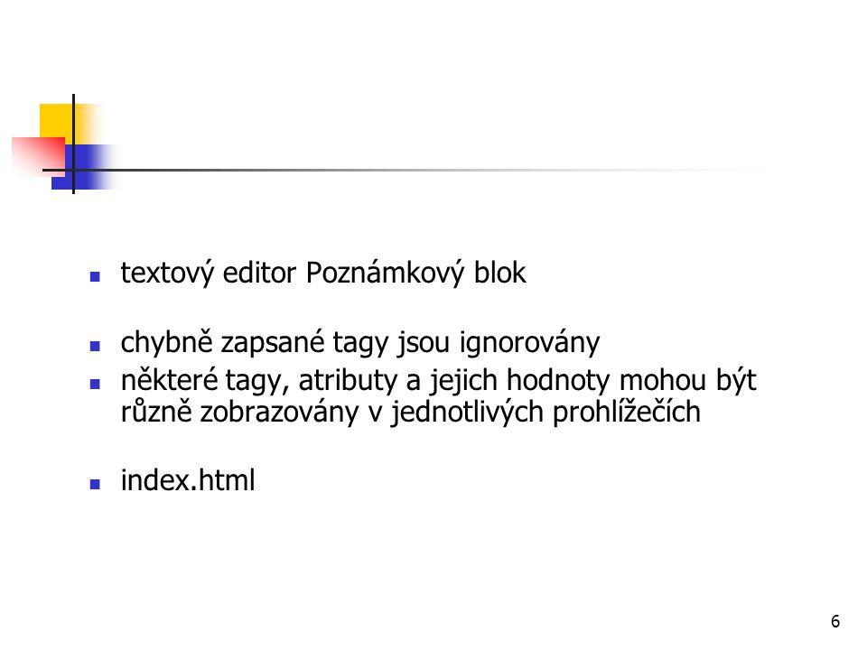 textový editor Poznámkový blok