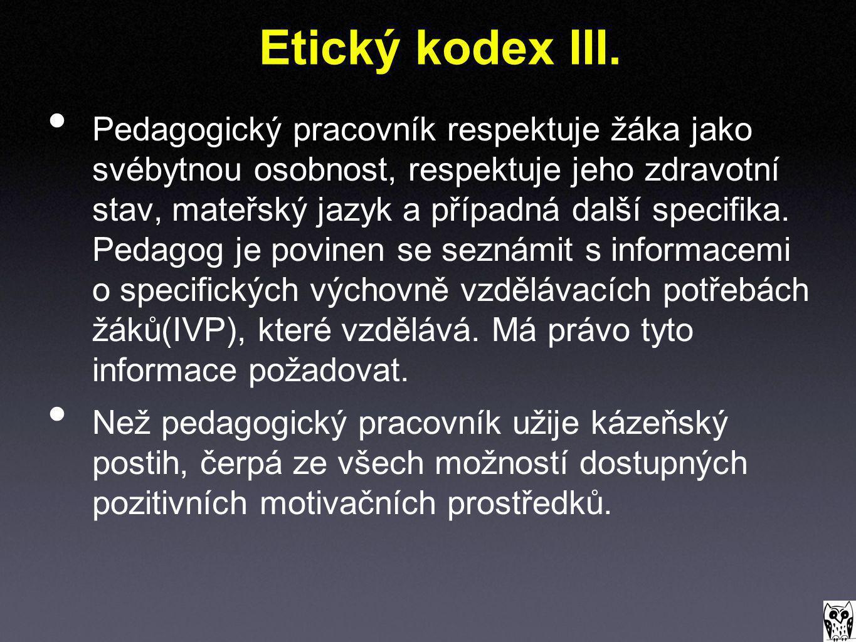 Etický kodex III.