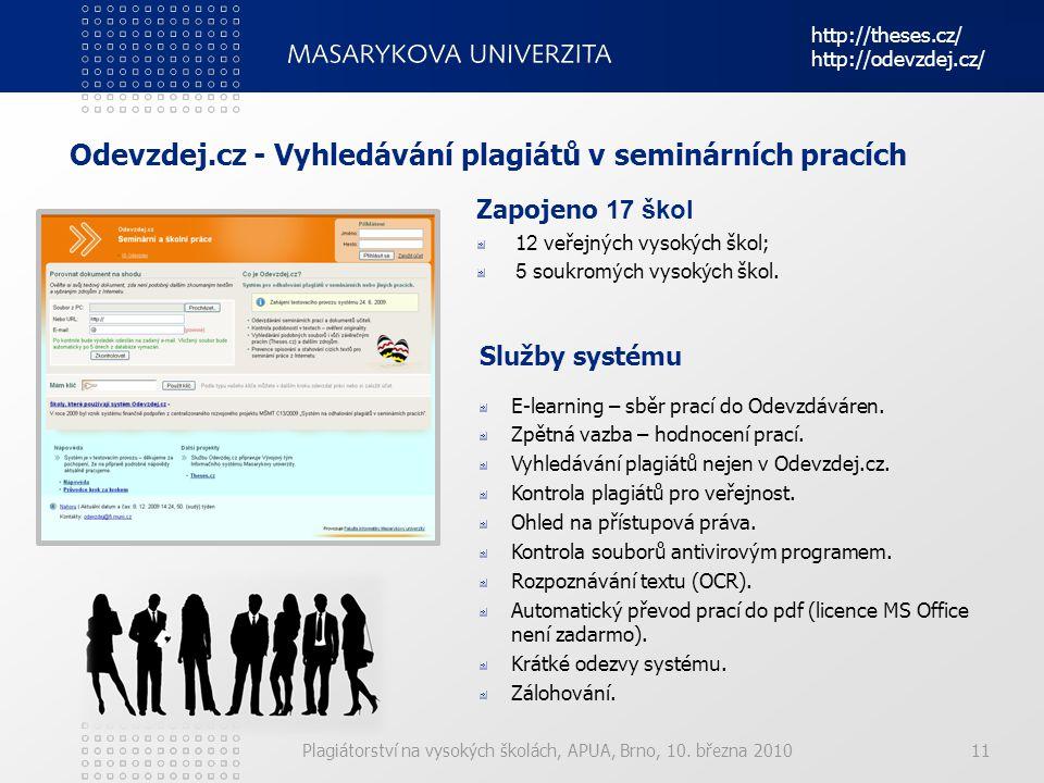 Odevzdej.cz - Vyhledávání plagiátů v seminárních pracích