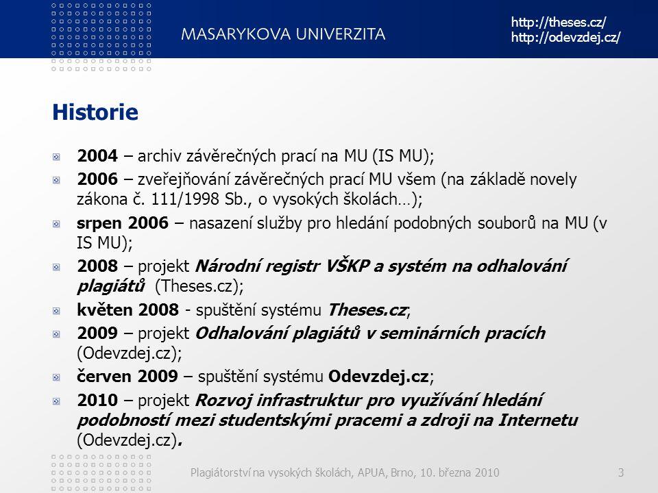 Historie 2004 – archiv závěrečných prací na MU (IS MU);
