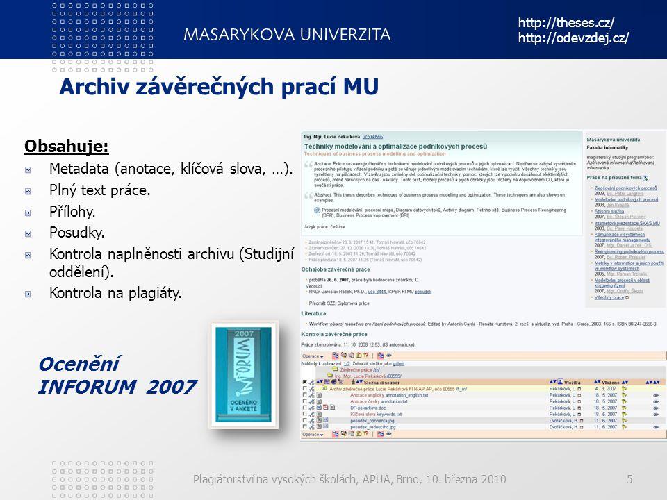 Archiv závěrečných prací MU