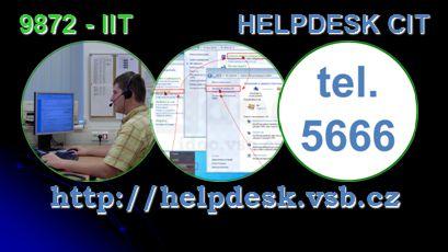 9872 - IIT HELPDESK CIT http://helpdesk.vsb.cz