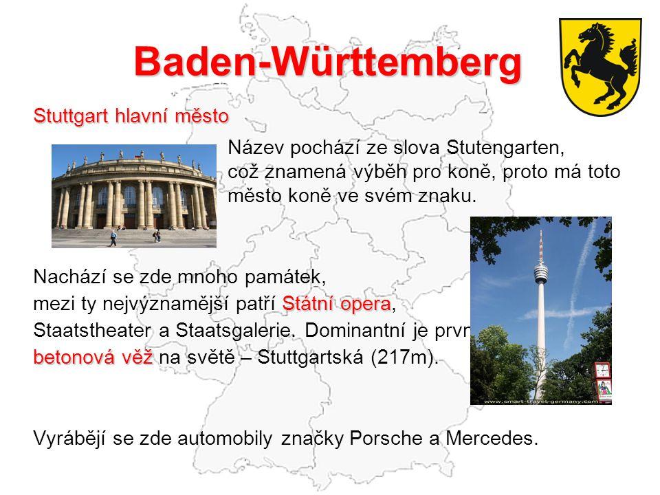 Baden-Württemberg Stuttgart hlavní město