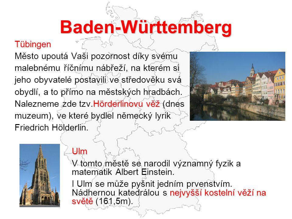 Baden-Württemberg Tübingen Město upoutá Vaši pozornost díky svému
