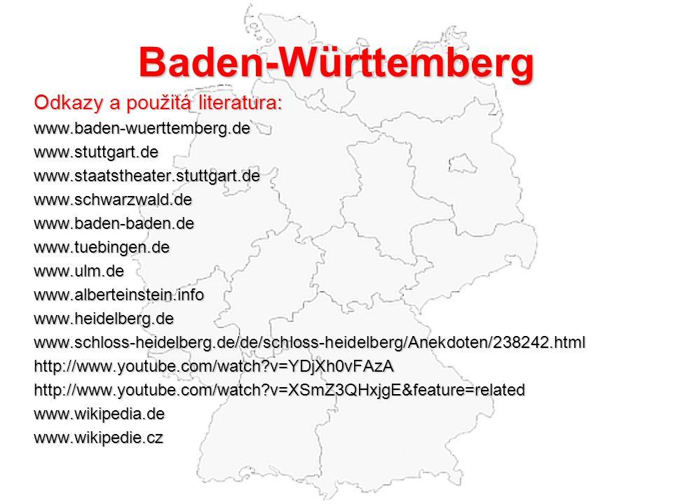 Baden-Württemberg Odkazy a použitá literatura:
