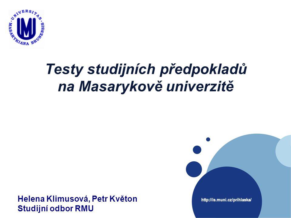 Testy studijních předpokladů na Masarykově univerzitě