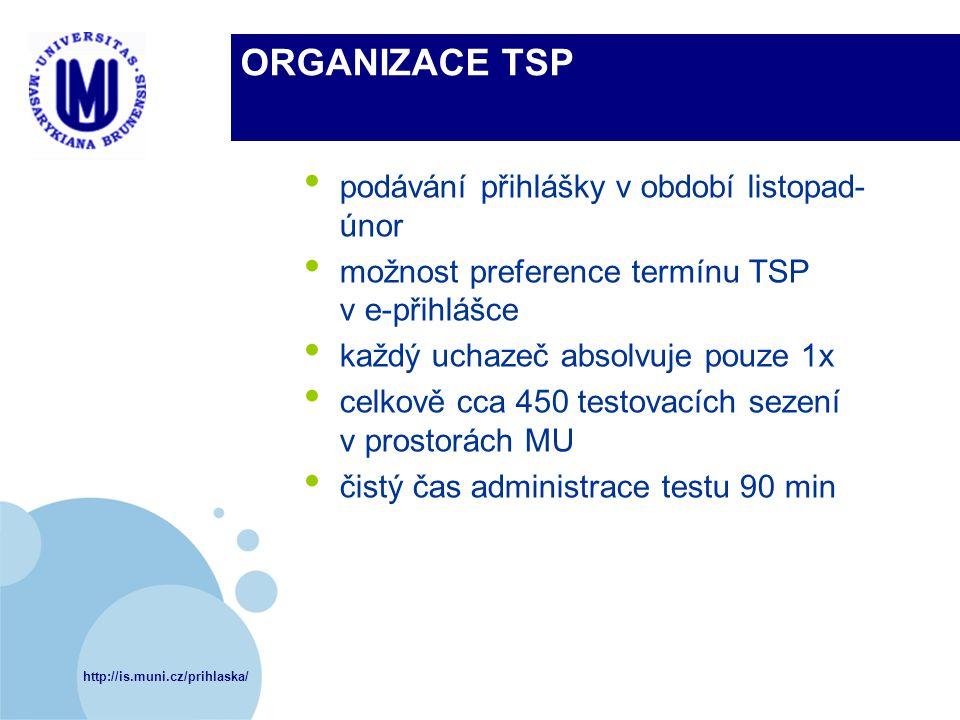 ORGANIZACE TSP podávání přihlášky v období listopad-únor