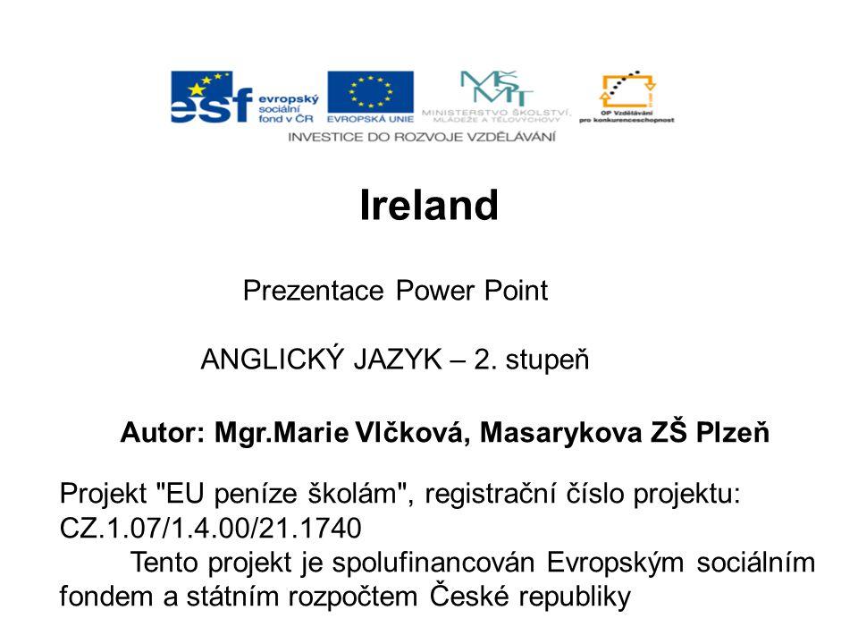 Ireland Prezentace Power Point ANGLICKÝ JAZYK – 2. stupeň