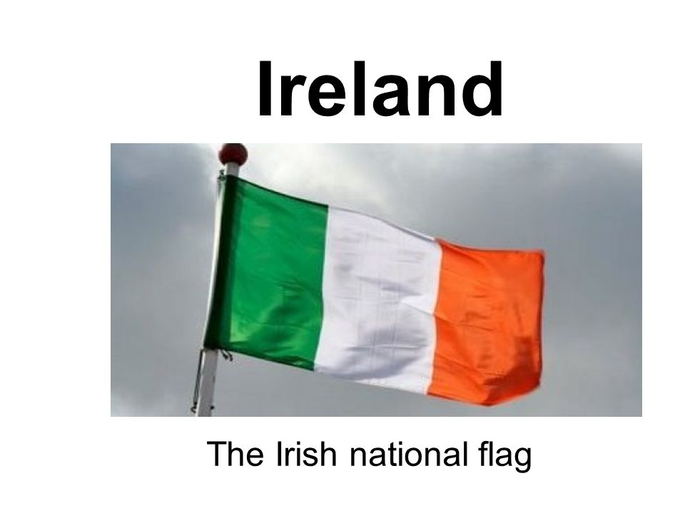 The Irish national flag