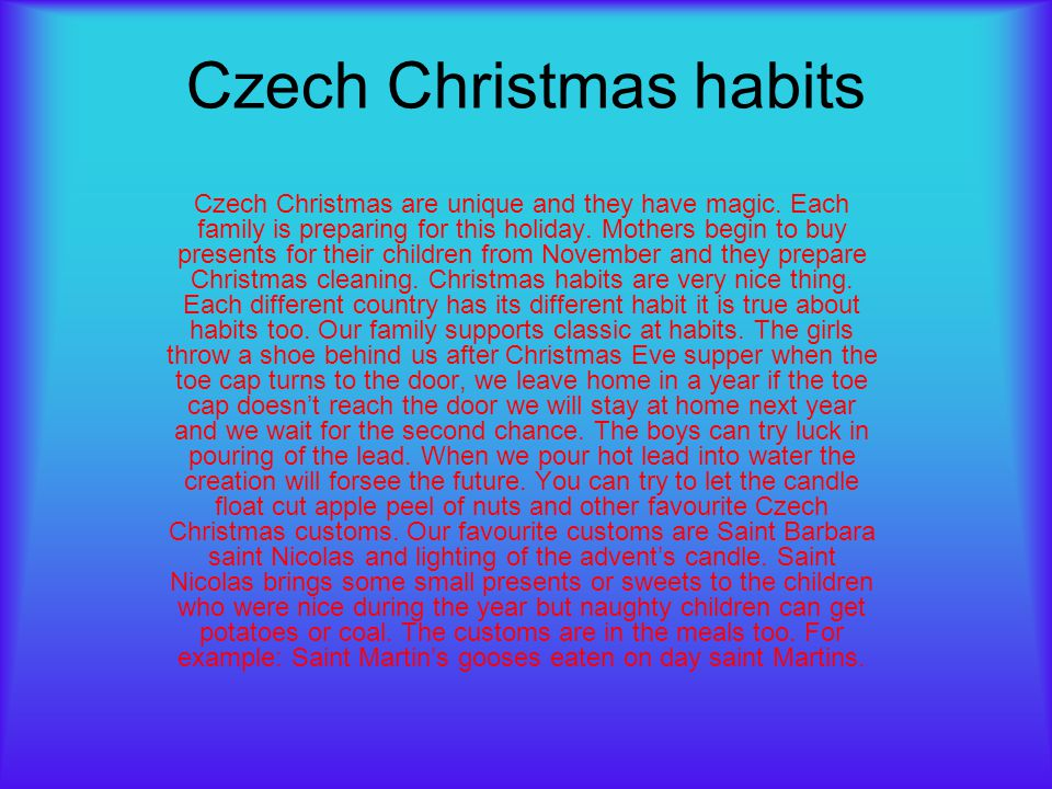 Czech Christmas habits
