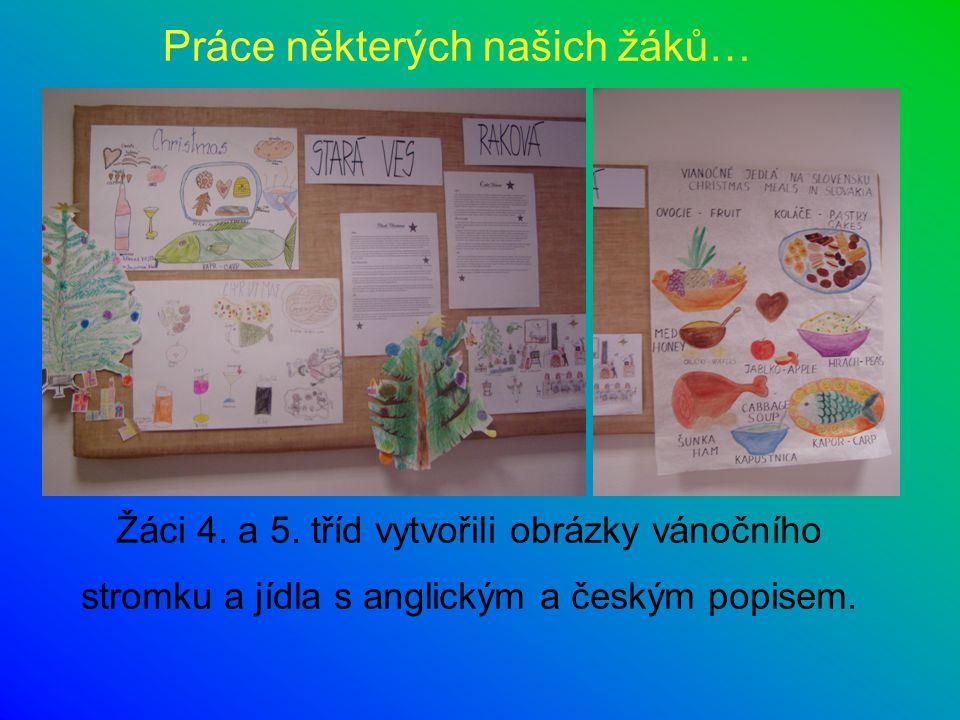 Práce některých našich žáků…