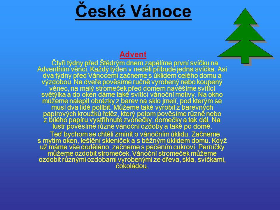 České Vánoce Advent.