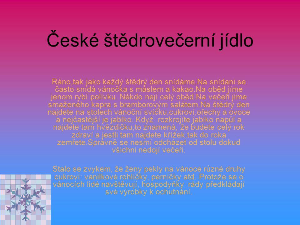 České štědrovečerní jídlo