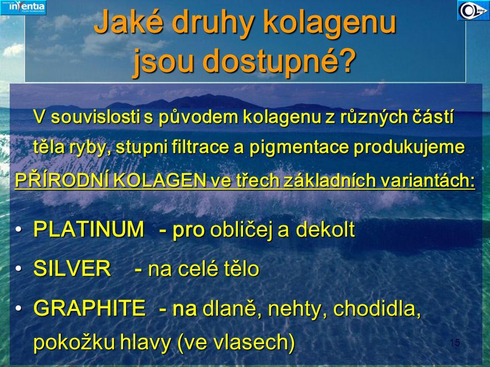 Jaké druhy kolagenu jsou dostupné
