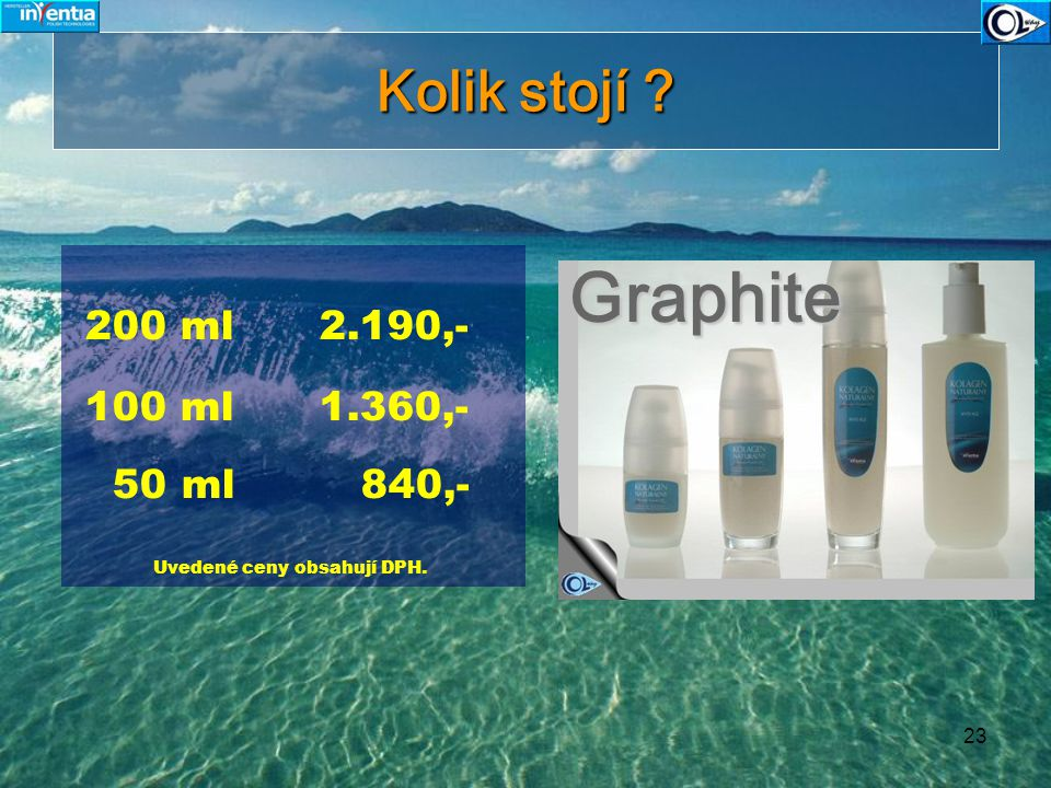 Graphite Kolik stojí 200 ml 2.190,- 100 ml 1.360,- 50 ml 840,-