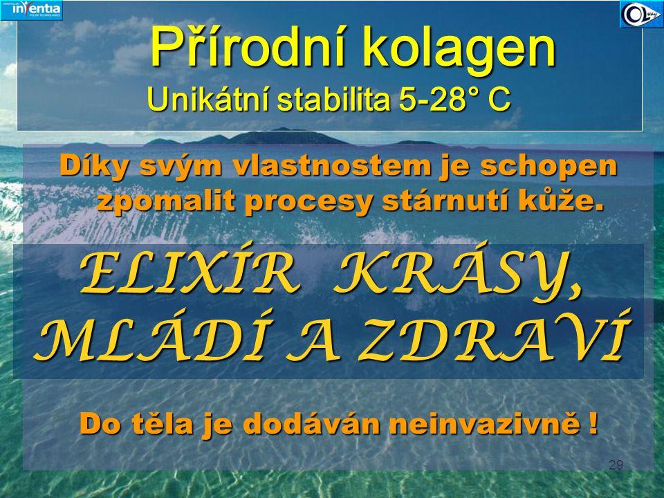 Přírodní kolagen Unikátní stabilita 5-28° C