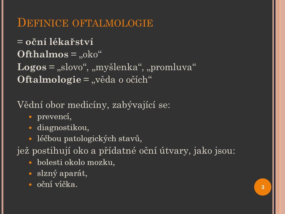 Definice oftalmologie