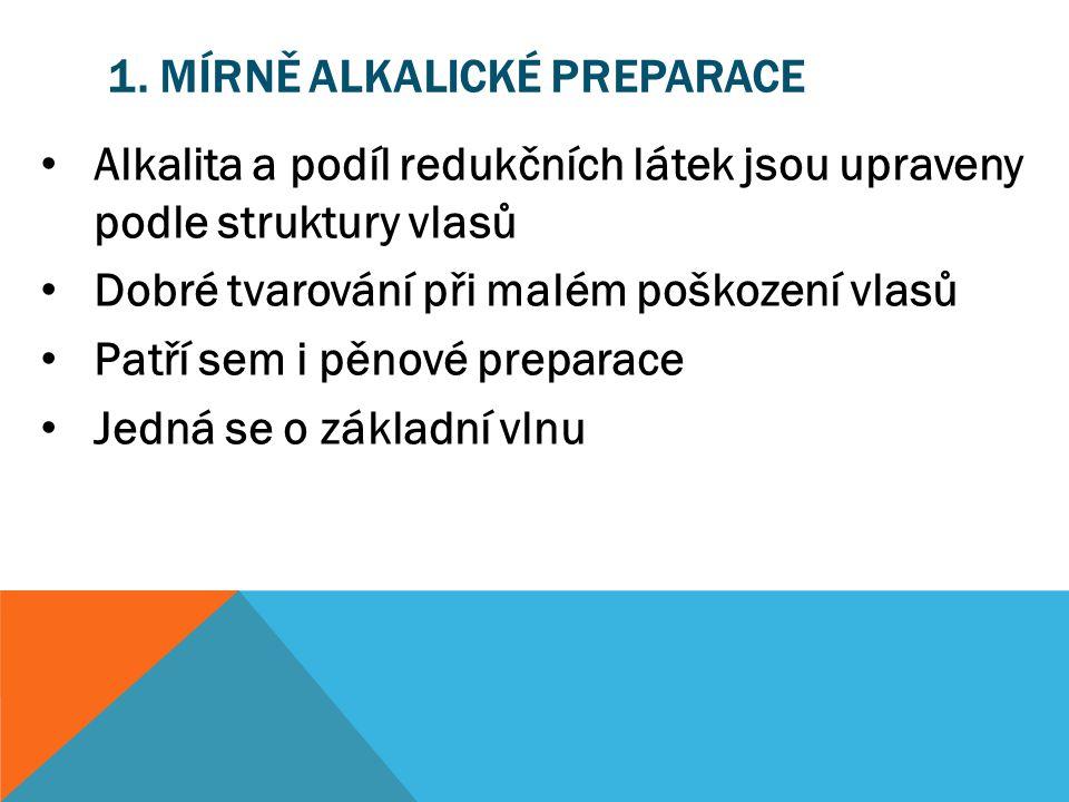 1. Mírně alkalické preparace