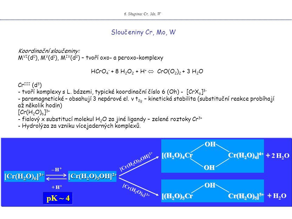 HCrO4- + 8 H2O2 + H+  CrO(O2)2 + 3 H2O