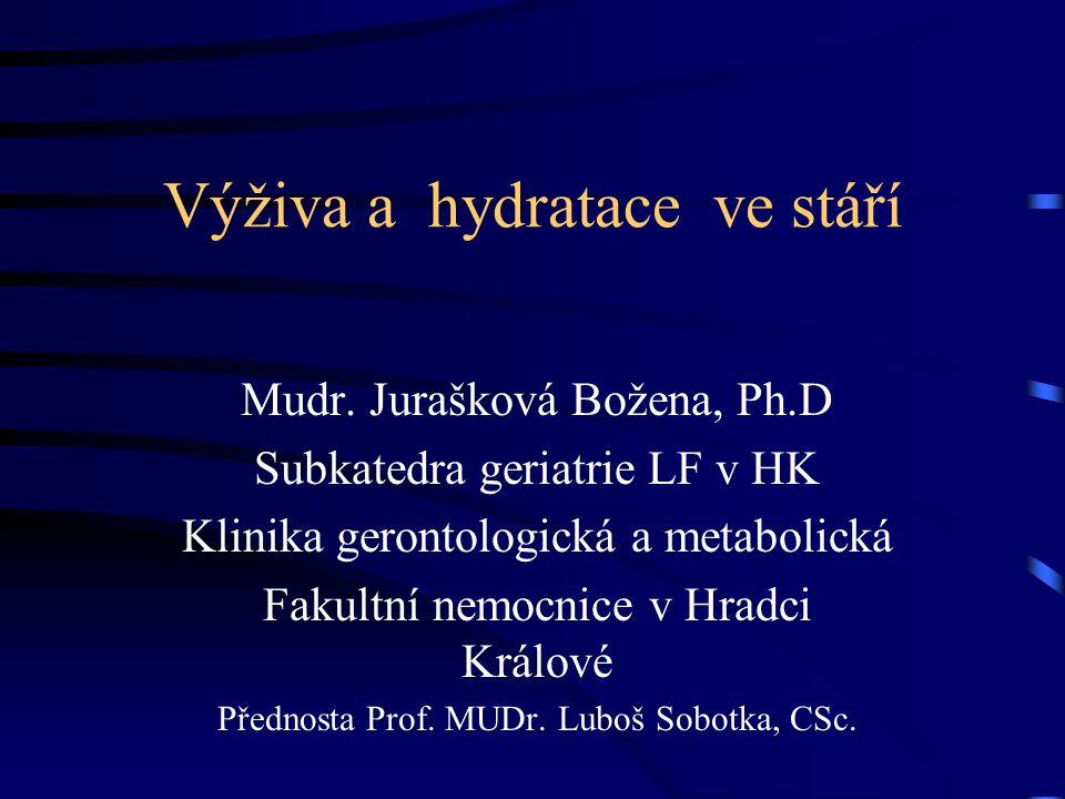 Výživa a hydratace ve stáří
