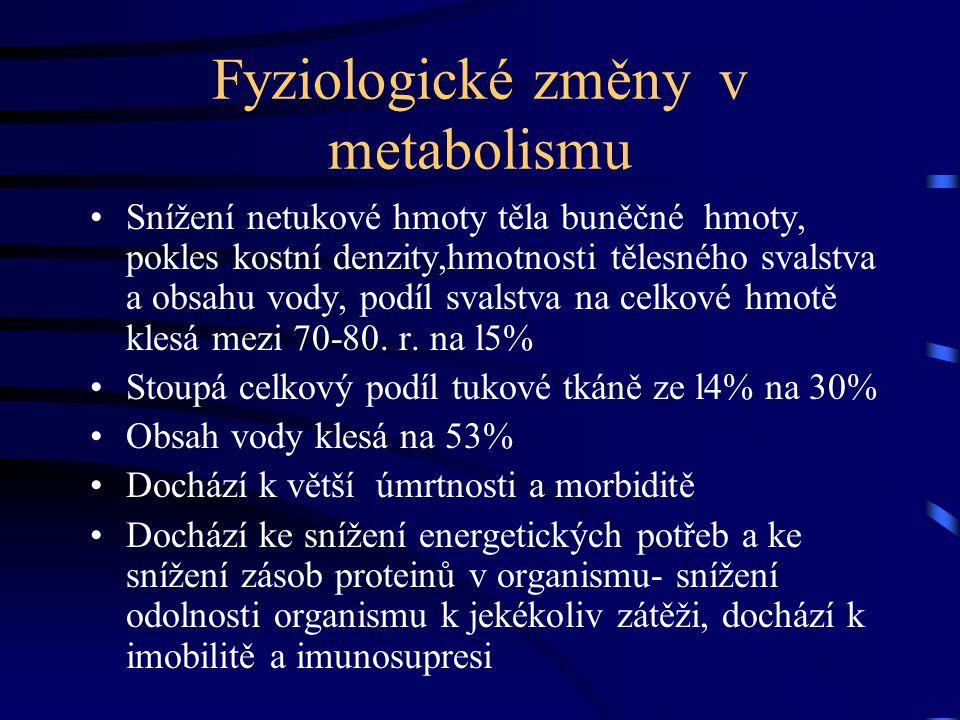 Fyziologické změny v metabolismu