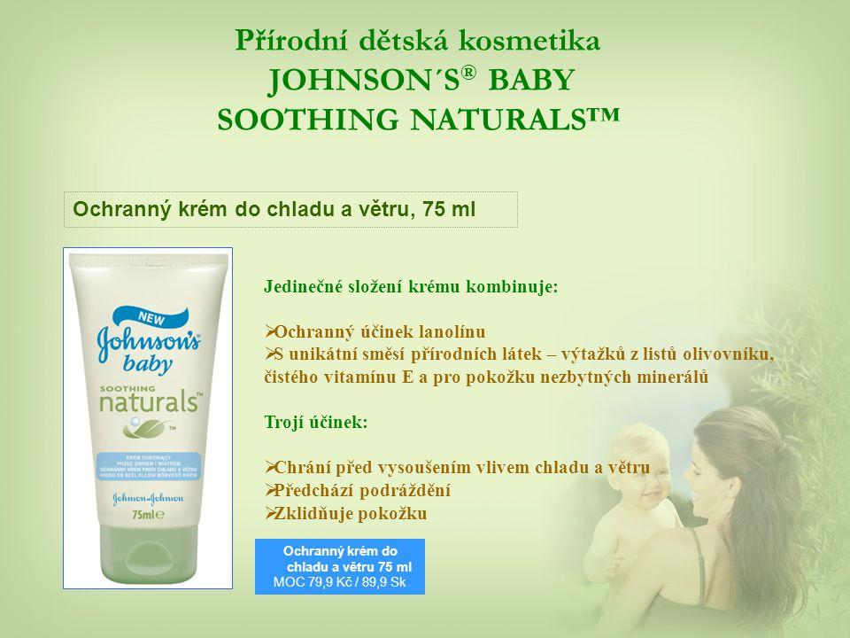 Přírodní dětská kosmetika JOHNSON´S® BABY SOOTHING NATURALS™