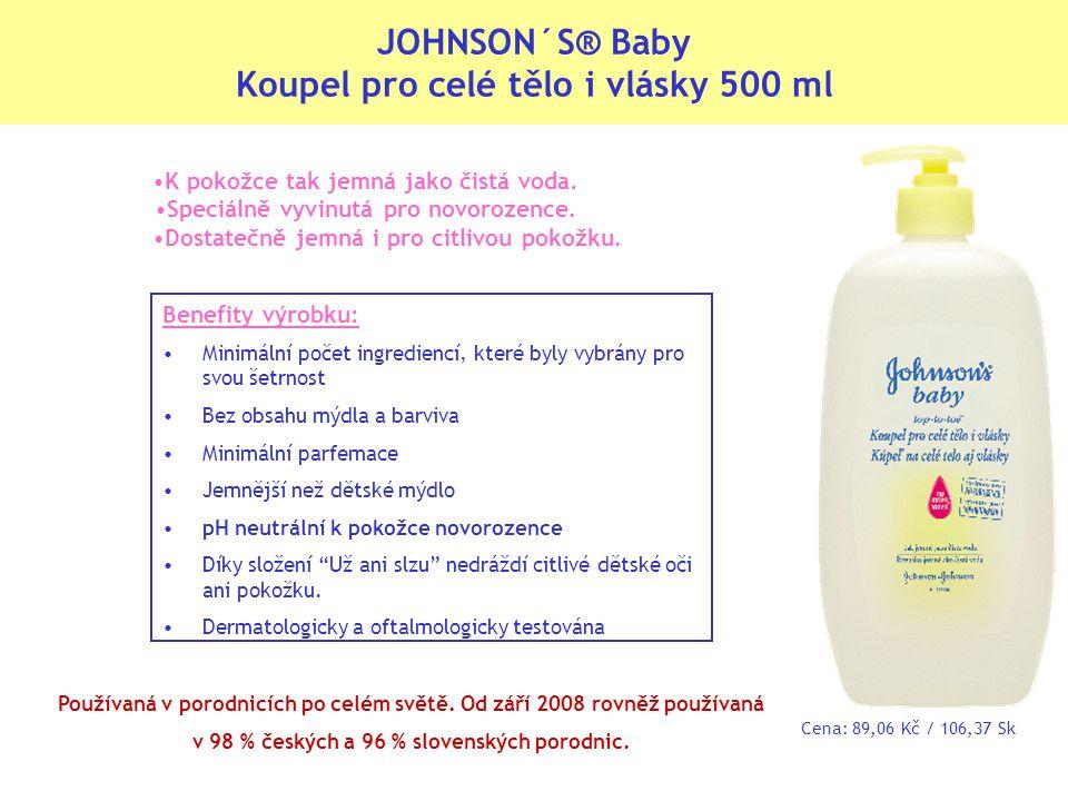 JOHNSON´S® Baby Koupel pro celé tělo i vlásky 500 ml