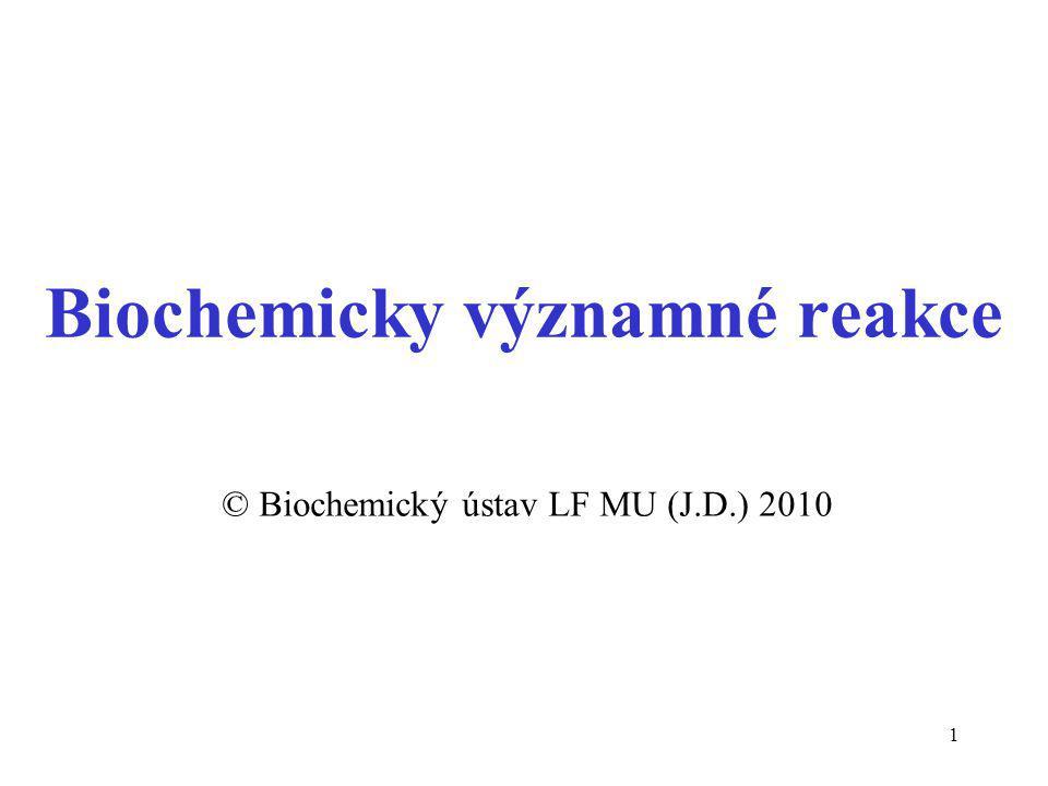 Biochemicky významné reakce