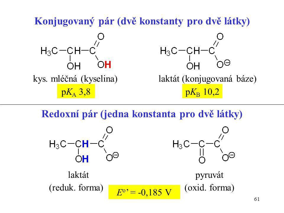 Konjugovaný pár (dvě konstanty pro dvě látky)