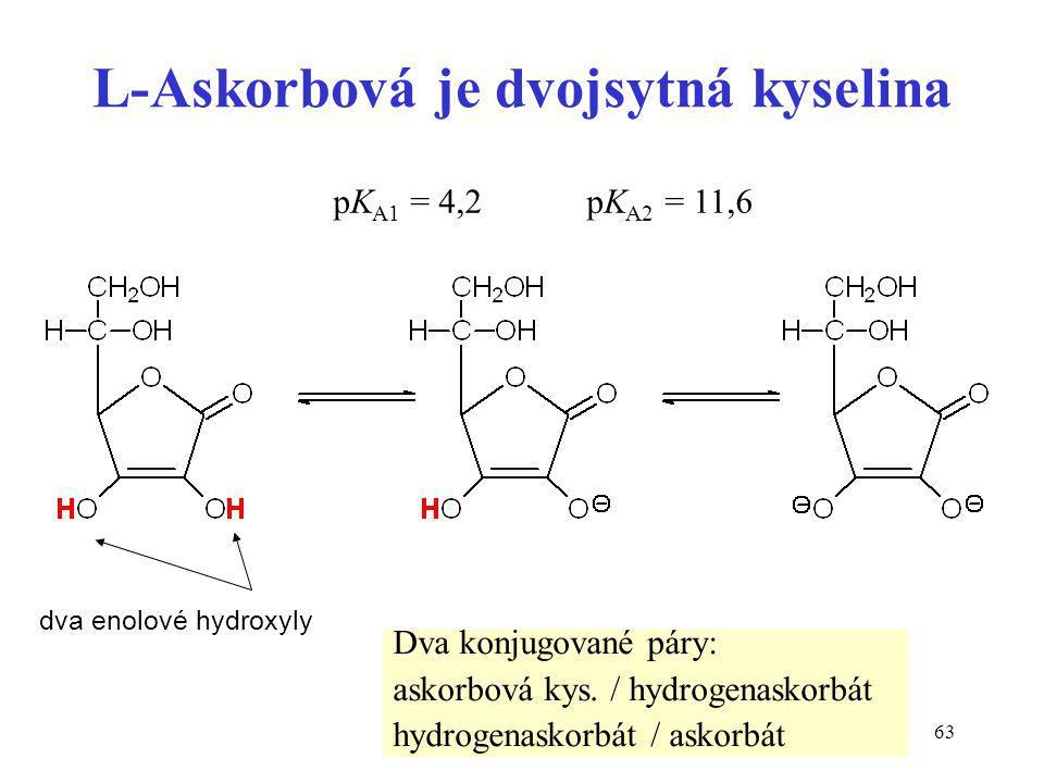 L-Askorbová je dvojsytná kyselina