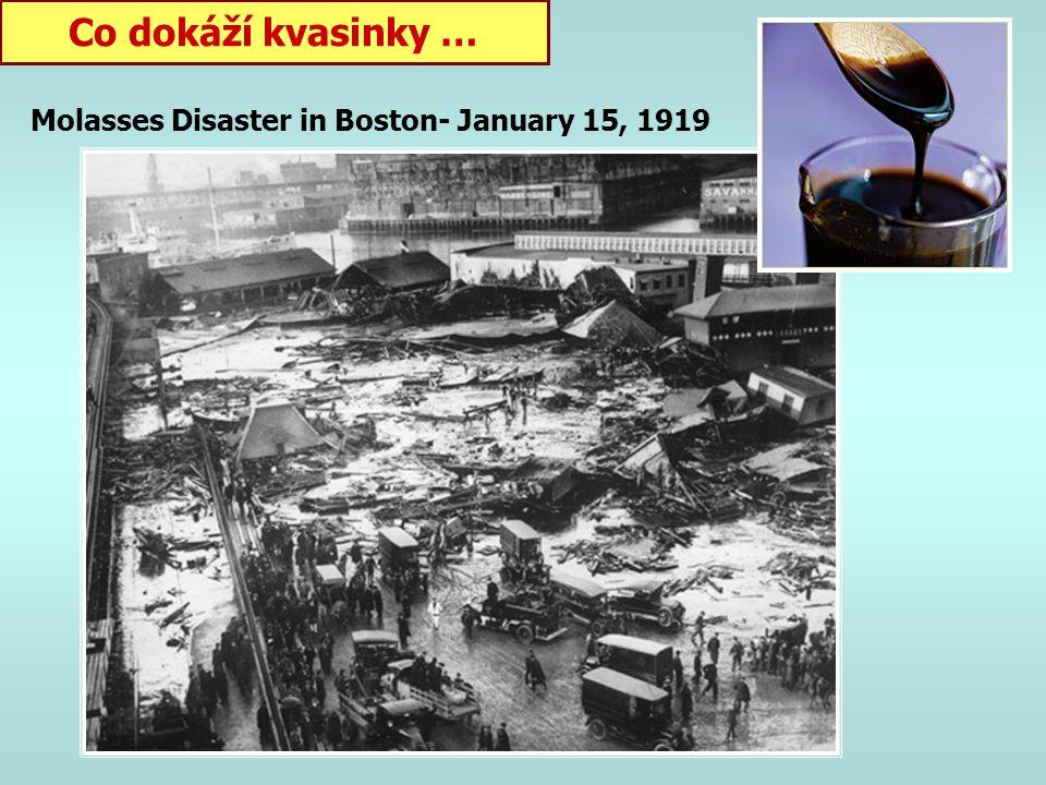 Co dokáží kvasinky … Molasses Disaster in Boston- January 15, 1919