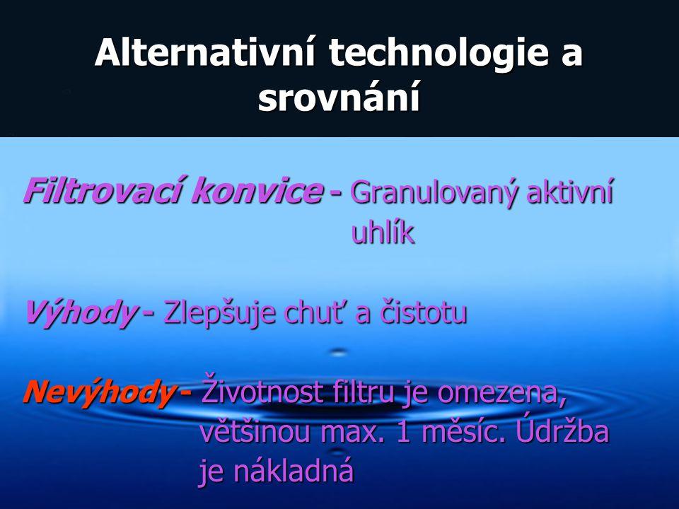 Alternativní technologie a srovnání
